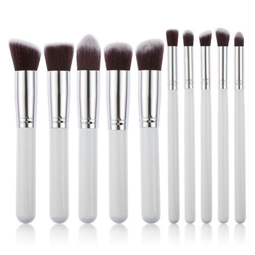 10 Pc Professional  Makeup Brush Set