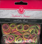 TF072 Neon Rubber Bands 250 ct
