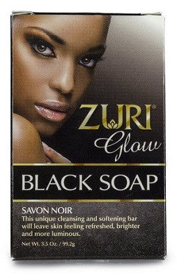 zuri glow black soap 3.5 oz