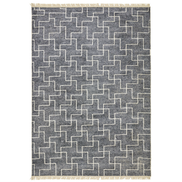 BAMBOO SILK RUG - GREY