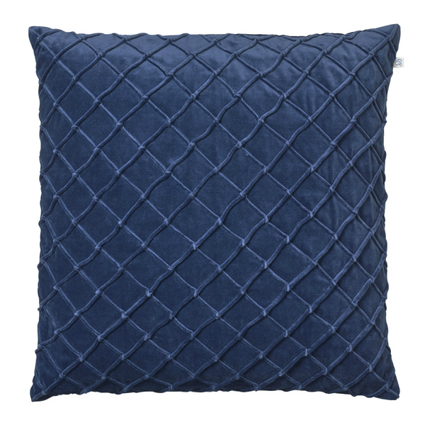 CUSHION COVER DEVA VELVET BLUE