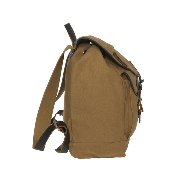 ENTER KEBNEKAISE BACKPACK - KHAKI CANVAS AND DARK BROWN LEATHER