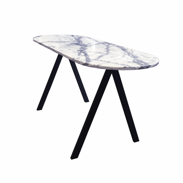 FRIENDS & FOUNDERS TABLE DESK WHITE MARBLE
