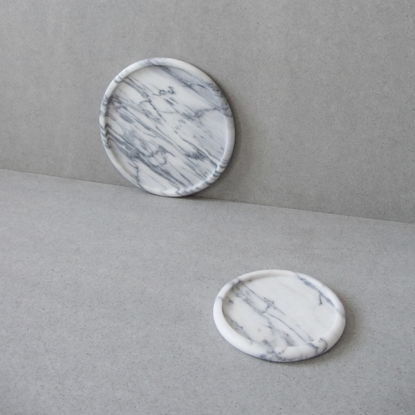 FRIENDS & FOUNDERS - MARBELOUS - TRAY WHITE MARBLE