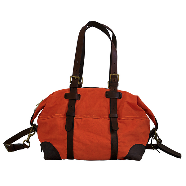 HOLDALL WEEKEND BAG - ORANGE CANVAS