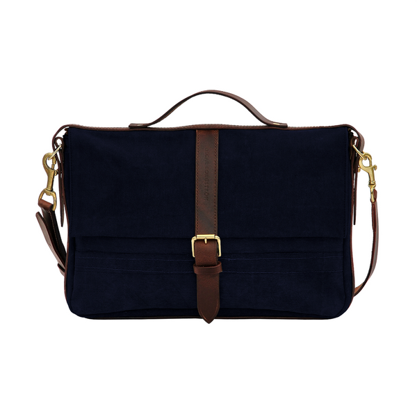 LAPTOP BAG BLUE CANVAS