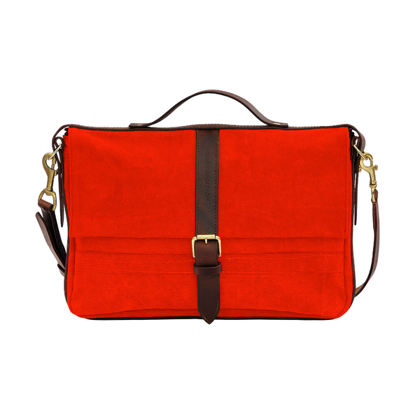 LAPTOP BAG ORANGE CANVAS