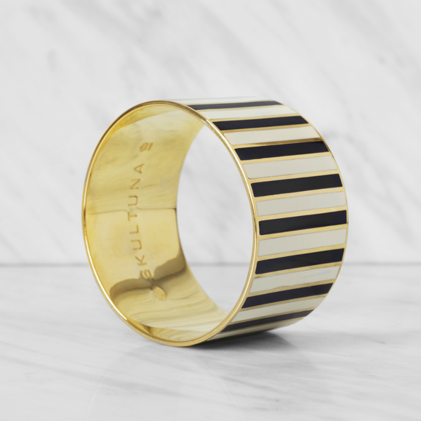 SKULTUNA STRIPE BANGLE BRACELET