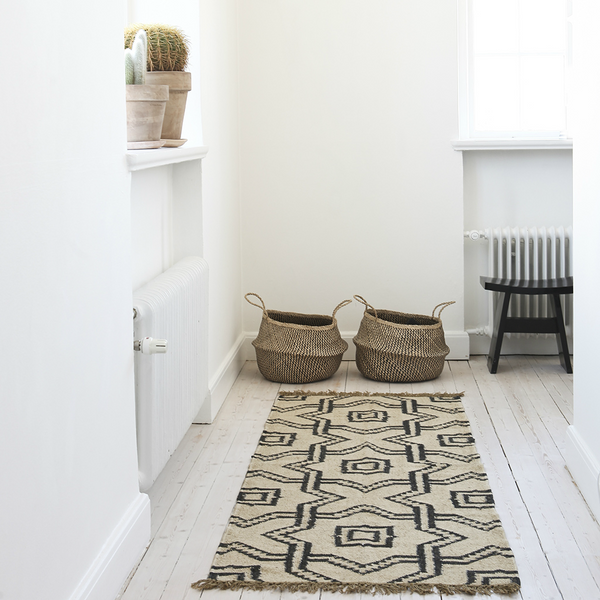 LABYRINT RUG - WOOL/JUTE