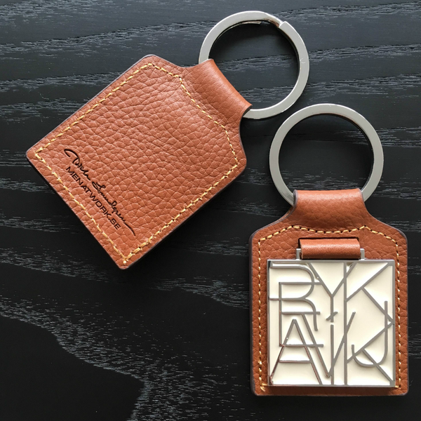 KEY RING REYKJAVIK OFF WHITE