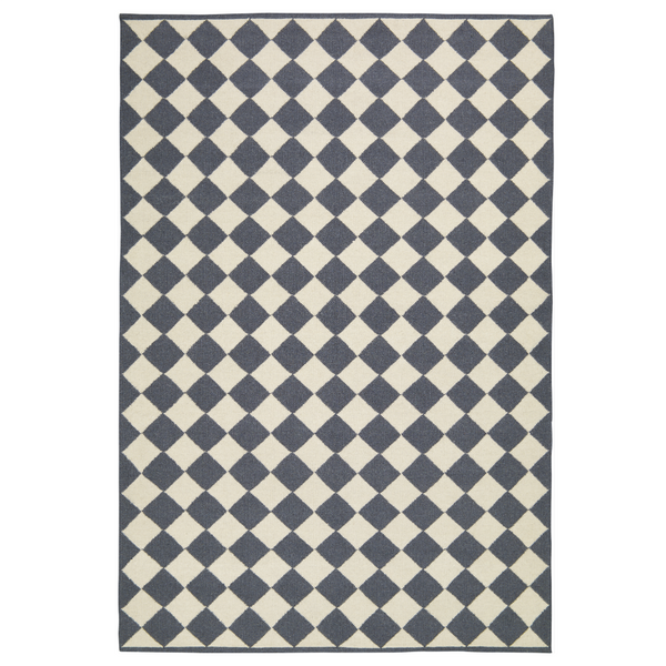 MOSAIC RUG - GREY/OFF WHITE