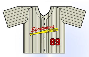 Classic Pin Stripe Mini Jersey Customizable Front View