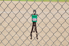 Load image into Gallery viewer, Green Dugout Organizer On Chain Link Fence