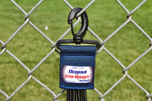 Load image into Gallery viewer, Navy Dugout Organizer On Chain Link Fence Up Close