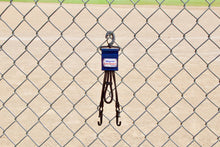 Load image into Gallery viewer, Navy Dugout Organizer On Chain Link Fence