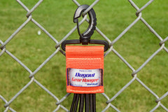 Organized Softball Dugout with hanging bat holder