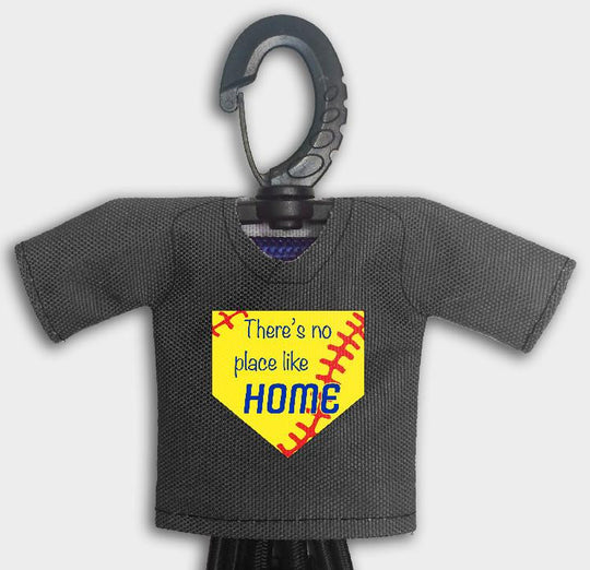 Pre Designed Mini Jersey Theres No Place Like Home Front View With Dugout Gear Hanger Black