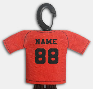 Predesigned Mini Jersey Run Fast Turn Left Back View With Dugout Gear Hanger