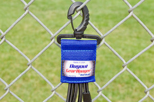 Royal Dugout Organizer On Chain Link Fence Up Close