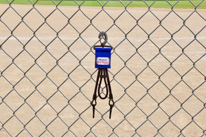 Royal Dugout Organizer On Chain Link Fence