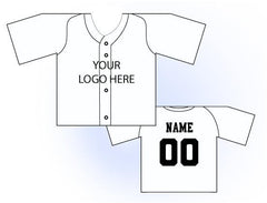 Solid Buttonup Mini Jersey Front and Back View White