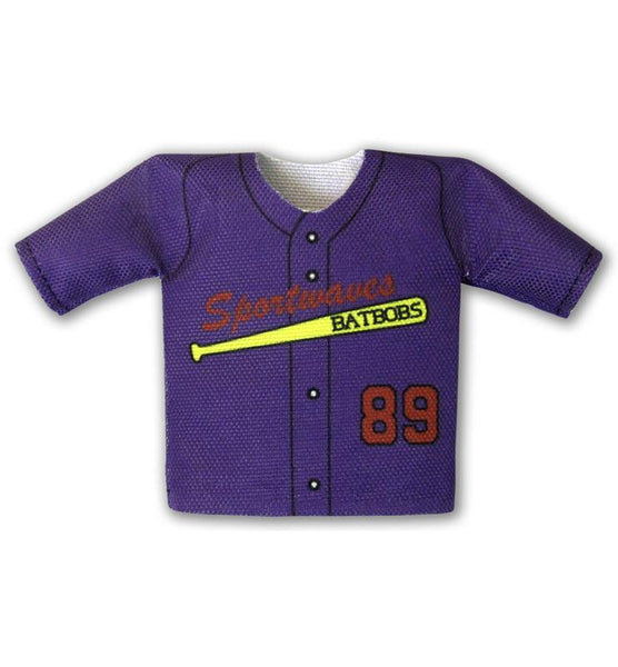 Solid Buttonup Mini Jersey Front View For Dugout Gear Hanger