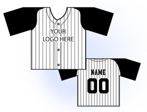 TwoTone Mini Jersey Front and Back View Black and White