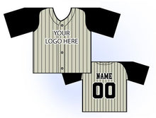 Load image into Gallery viewer, TwoTone Mini Jersey Front and Back View Cream and Black