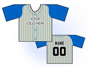 TwoTone Mini Jersey Front and Back View Cream and Blue