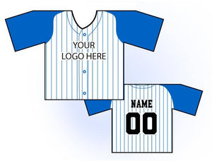 TwoTone Mini Jersey Front and Back View Blue and White
