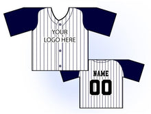 Load image into Gallery viewer, TwoTone Mini Jersey Front and Back View Navy and White