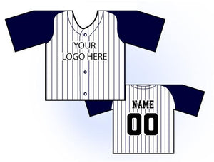 TwoTone Mini Jersey Front and Back View Navy and White
