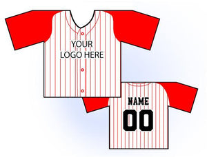 TwoTone Mini Jersey Front and Back View Red and White