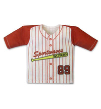 Load image into Gallery viewer, TwoTone Pin Stripe Mini Jersey Front View For Dugout Gear Hanger