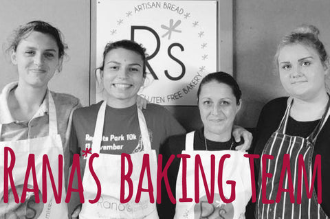 Rana's gluten free bread baking team