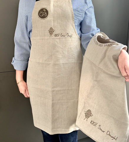 Luxury Linen Set- Apron and large tea towel