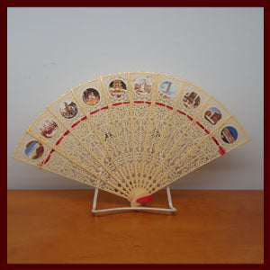 Folding Fan with Los Angeles Points of Interest