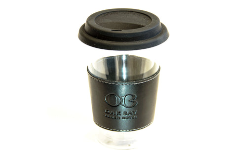 Oak Bay Beach Hotel Branded Glass Coffee Cup
