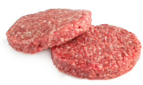 Beef Burger Patties, 6 Ounce, Package of 5