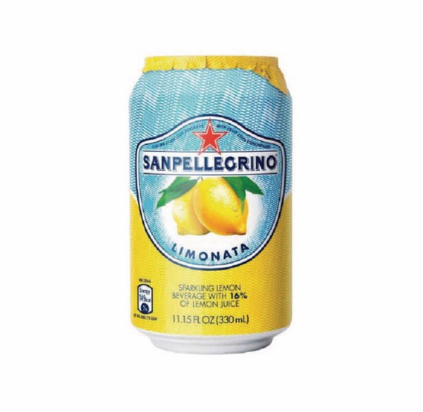 San Pellegrino Lemon, 330mL Can, 6 Pack