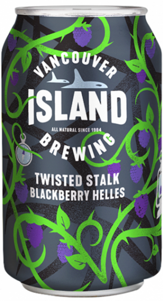 Vancouver Island Brewing, Twisted Stalk Blackberry Helles, 355mL Can, Each*