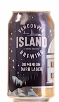Vancouver Island Brewing, Dominion Dark Lager, 355mL Can, Each*