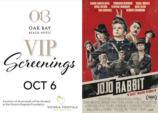 VIP Screenings | October 6: Jojo Rabbit