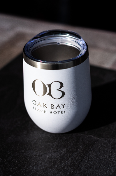 Oak Bay Beach Hotel Stainless Steel Tumbler 12 oz.