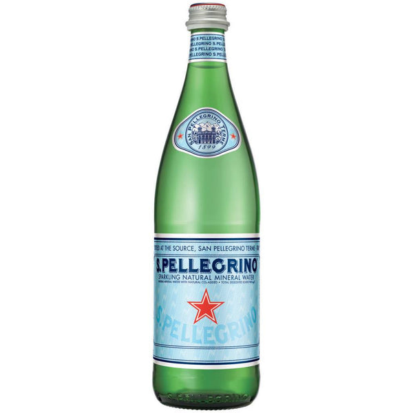 S. Pellegrino Carbonated Natural Mineral Water, 750 ml, Each