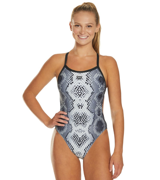 W Snake Skin Challenge Back One Piece