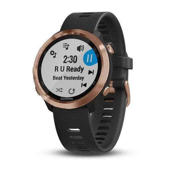 Forerunner® 645 Music - Black with Rose Gold Hardware