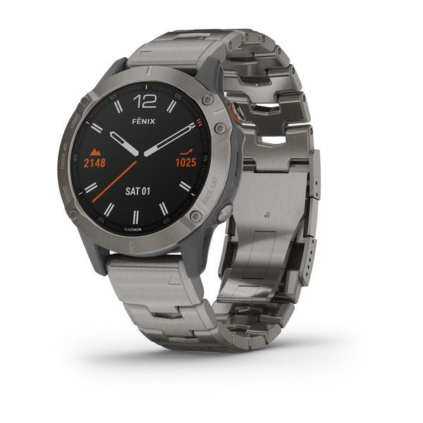 Garmin fēnix® 6 Series - Titanium with Vented Titanium Bracelet 47mm