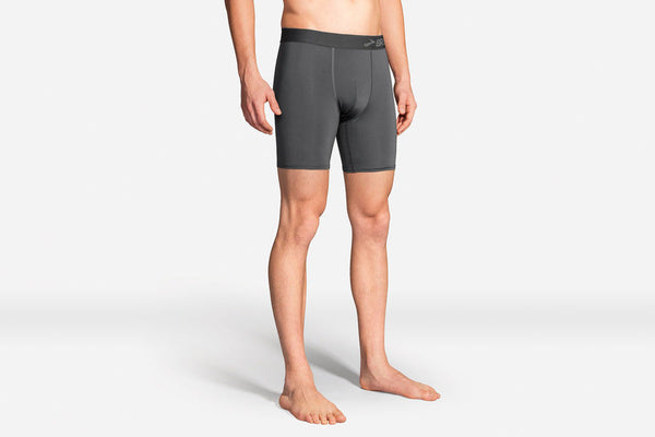 Brooks Men's All-In Training Boxer Briefs Asphalt