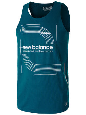 New Balance Printed Ice 2.0 Singlet Men's